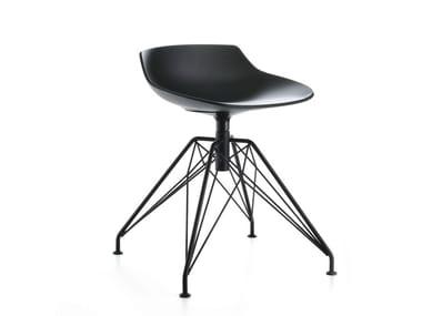 Swivel trestle-based stool FLOW STOOL | Stool