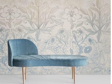 Revestimento de parede / Papel de parede FLOWER FANTASY LIGHT BLUE