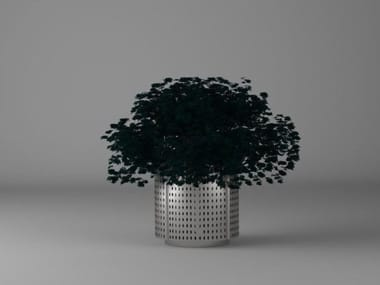 Galvanized plate Flower pot GREEN | Flower pot