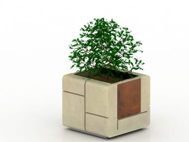 Low square reconstructed stone Flower pot MOD | Flower pot