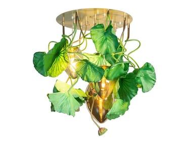 LED crystal ceiling lamp FLOWER POWER LOTUS DICHONDRA EGGS