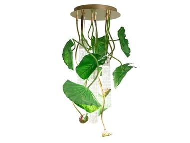 LED Murano glass ceiling lamp FLOWER POWER LOTUS DICHONDRA ROUND