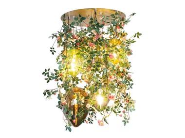 LED crystal ceiling lamp FLOWER POWER ROMANTIC ROSES