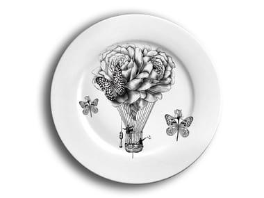 Porcelain dinner plate FLOWERS