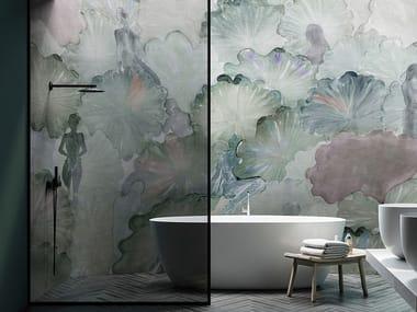 Papel de parede ecológico lavável livre de PVC FLUKY
