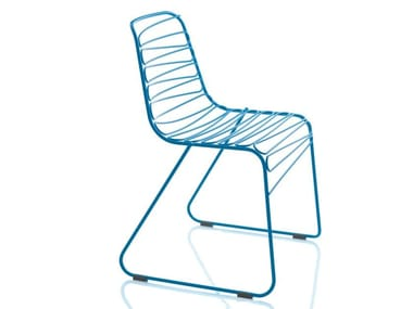 Sled base metal chair FLUX