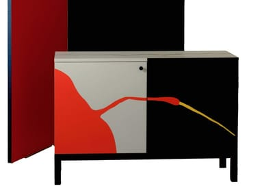 Lacquered laminate sideboard with doors FLY Box