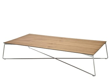 Rectangular wood veneer coffee table FLY | Rectangular coffee table