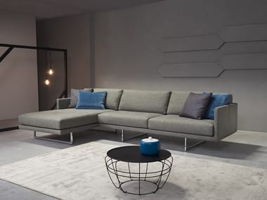 Sectional sofa with chaise longue FLY | Sofa with chaise longue