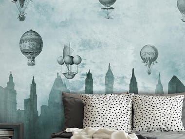 Industrial and modern wallpaper, PVC free, eco, washable FLYING HIGH