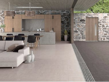 Glazed stoneware wall/floor tiles with concrete effect FOCUS