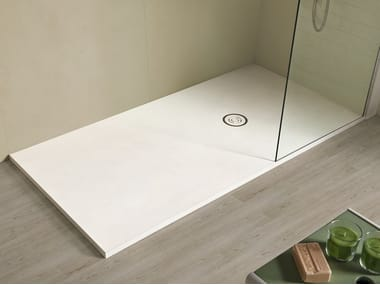 Anti-slip rectangular Akron© shower tray FOCUS BETON