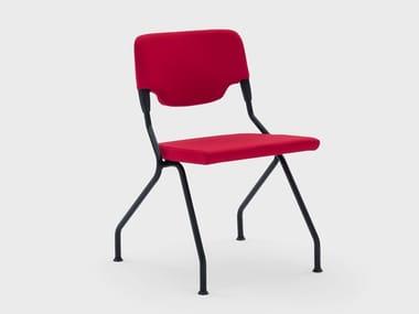 Sedia pieghevole in tessuto con braccioli MADAM COLLETTIVITÀ | Sedia pieghevole