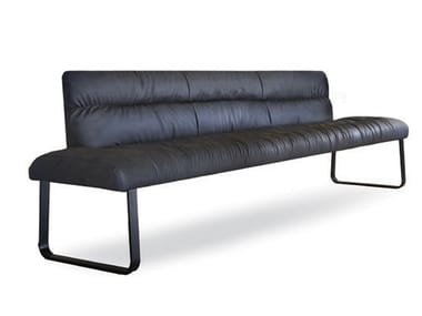 Upholstered bench whit steel base FOR US SOFT | Bench seating