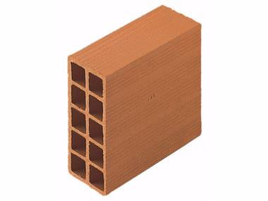 Blocco da muratura in laterizio / Blocco per tamponamento in laterizio Forati 10x25x25