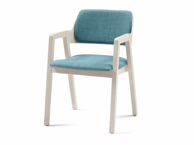 Upholstered fabric chair with armrests FORD 05 + A