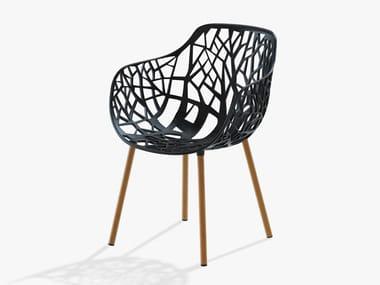 Sedia da giardino in alluminio con braccioli FOREST   Sedia in alluminio