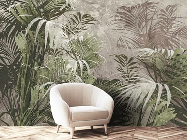 Tropical fabric wallpaper FORESTA TROPICALE