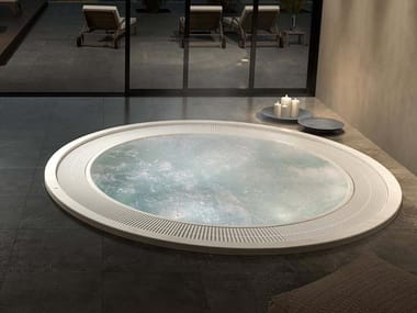 Round hot tub with chromotherapy 9-seats FOREVER