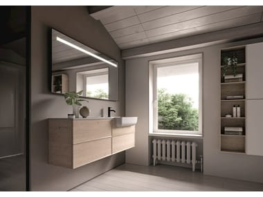 Wall-mounted vanity unit with drawers FORM 02