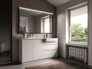 Floor-standing lacquered vanity unit FORM 06
