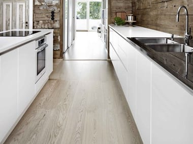 Linear solid wood kitchen without handles FORM 6 | Linear kitchen
