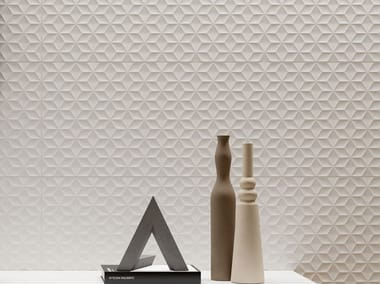 Indoor white-paste 3D Wall Cladding FORME BIANCHE CUBO