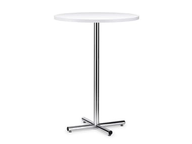 Round HPL high table with 4-star base FORMEO IS1 8000H
