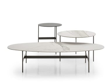 Low oval porcelain stoneware coffee table FORMICHE | Oval coffee table