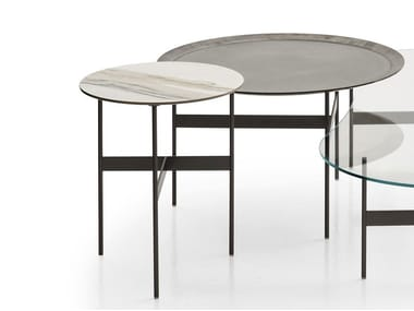 Low Round Porcelain Stoneware Coffee Table Formiche B Italia