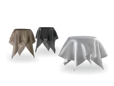 Tavolino rotondo in vetro FOULARD | Tavolino