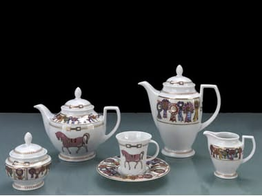 Porcelain tea set FOUR HORSES | Tea set