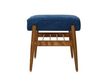 Low fabric stool FOX DENIM | Stool
