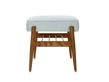 Low fabric stool FOX TWEED | Stool