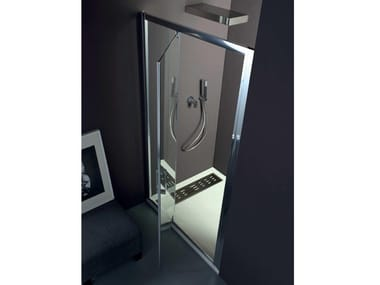 Box doccia a nicchia con porta a battente FPB40 | Box doccia a nicchia