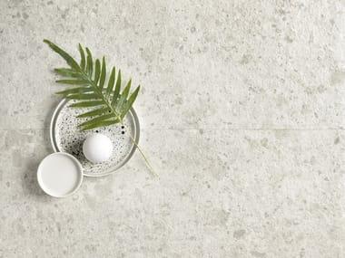 Pavimento/rivestimento in gres porcellanato effetto pietra FRAGMENTA FULL BODY BIANCO GRECO