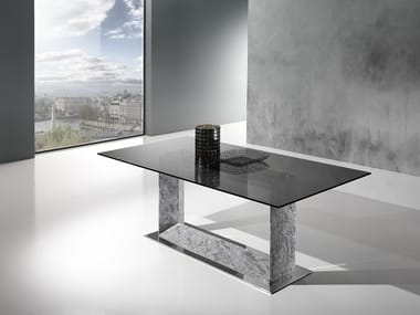 Rectangular Crystal Stone® table FRAME