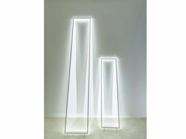 LED aluminium floor lamp FRAME ILLUSION