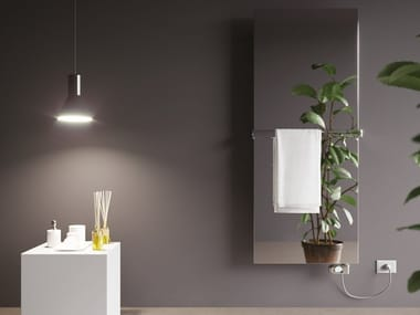 Elektrischer Designheizkörper aus Edelstahl mit Spiegel FRAME INOX ELECTRIC
