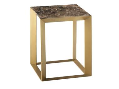 Tavolino quadrato in marmo da salotto FRAME PRIVÉ   Tavolino quadrato