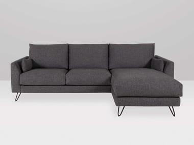 Sofá 3 plazas de tela con chaise-longue FRAPPE