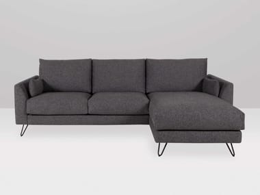 Sofá 3 plazas de tela con chaiselongue FRAPPE