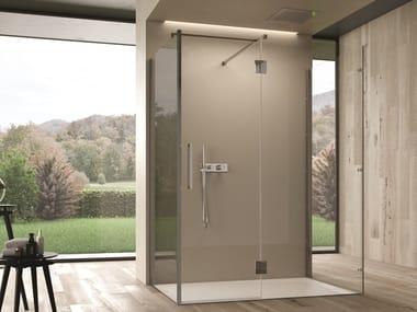 Cabina de ducha independiente rectangulares de vidrio EASY | Cabina de ducha independiente