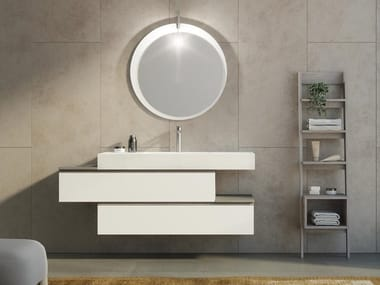 Single Wall Mounted Vanity Unit With Drawers FREEDOM F34. LEGNOBAGNO