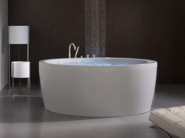 Freestanding acrylic bathtub SOLEIL ROUND | Freestanding bathtub