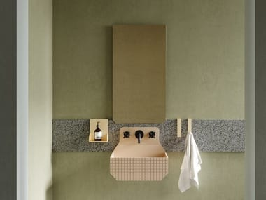 Rectangular wall-mounted bathroom mirror FRIEZE | Rectangular mirror