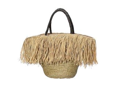 Raffia bag FRINGE BASKET