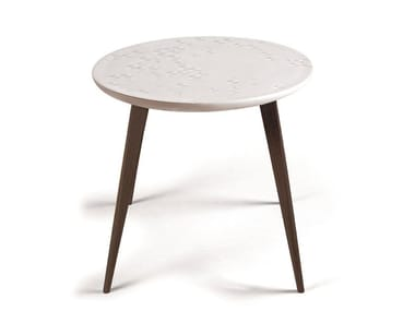Round porcelain coffee table FROST MOMENT WENGE