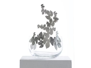 Glass and steel fruit bowl FRUTTETI