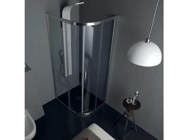 Box doccia angolare rettangolare FS40 | Box doccia semicircolare